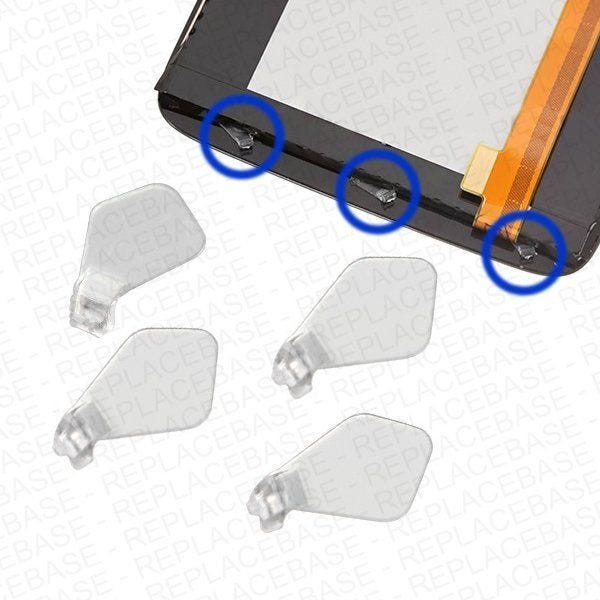 4 x replacement light guides for the HTC ONE-X front buttons