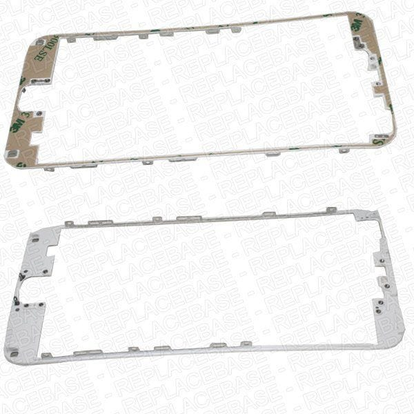 iPhone 6 Plus LCD frame, this is the frame that the LCD / digitizer assembly secures to and also the externally visible plastic bezel between the glass and metal rear housing.