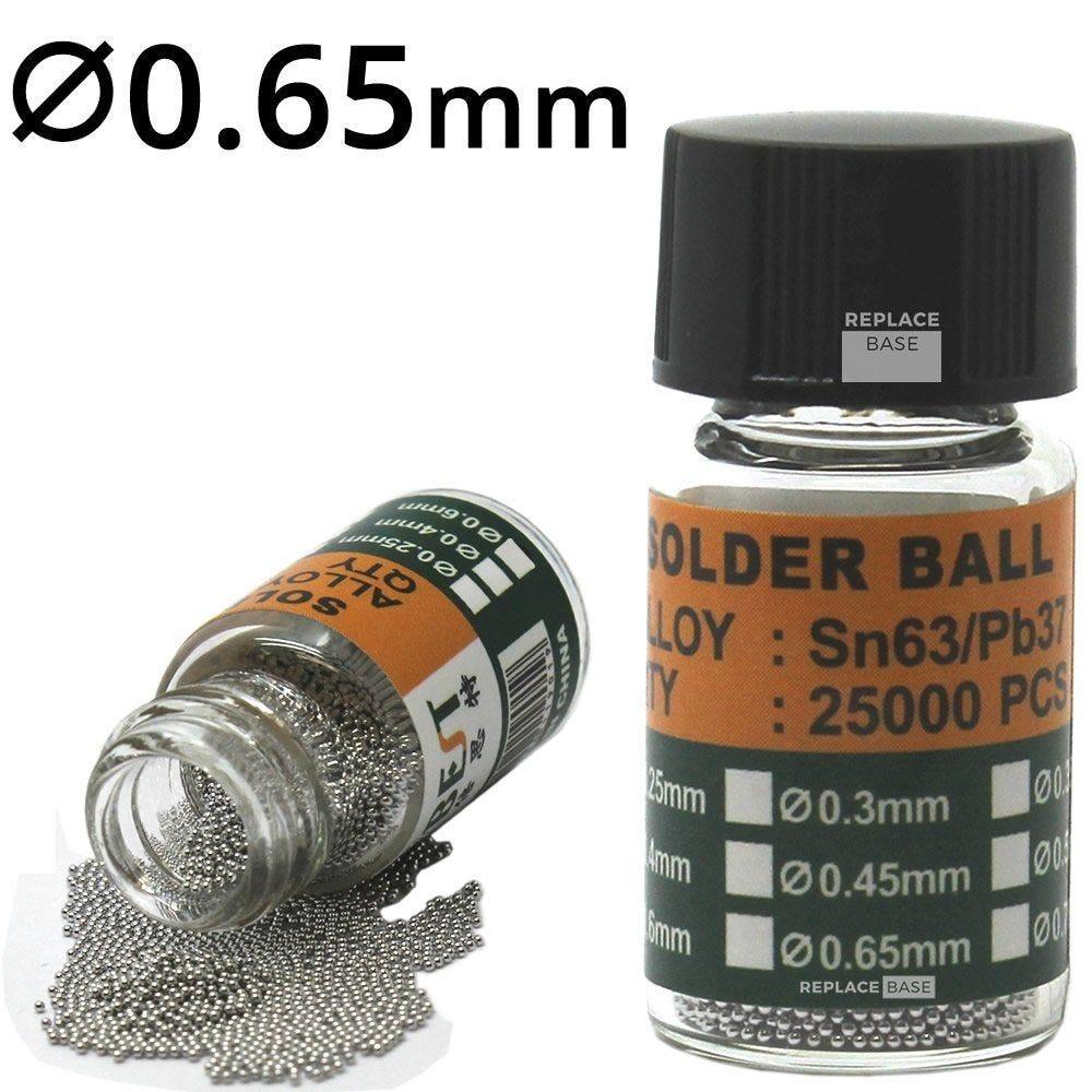 BEST BST-505 Solder Balls Bump soldering 25000 balls 0.2mm 0.65mm diameter