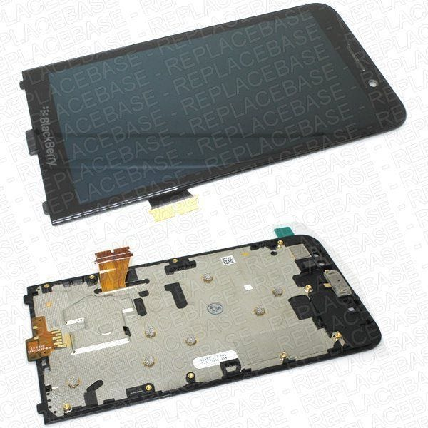 Original Blackberry Z30 front assembly, includes LCD bezel, touch screen, LCD, and Earpiece