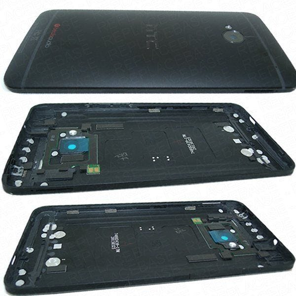 Complete rear housing assembly with camera lens,flash diffuser, power button, volume buttons and NFC antenna