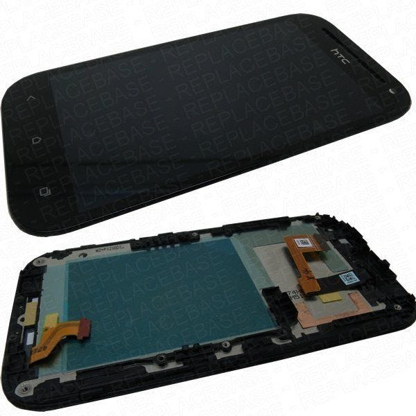 Part: HTC ONE SV LCD assembly (LCD screen touch screen / digitizer, glass panel and frame)