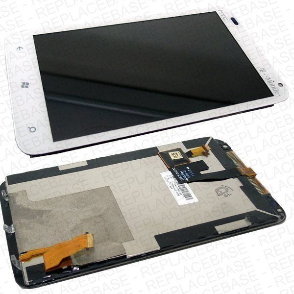 HTC Radar LCD assembly, includes LCD screen and touch screen / digitizer and light guides
