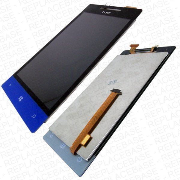 Replacement front LCD and digitizer / touch screen for HTC Windows Phone 8S - Complete assembly