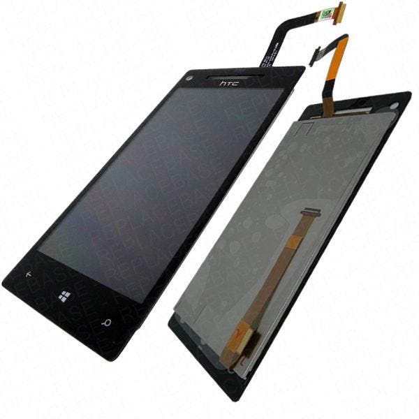 Replacement front LCD and digitizer / touch screen for HTC Windows Phone 8X - Complete assembly