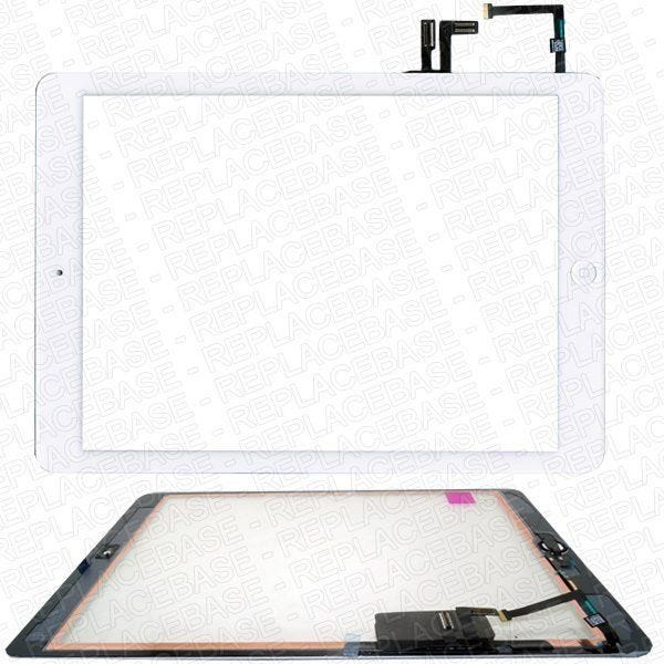 iPad Air 5 Digitizer Touch Screen Glass Replacement Assembly With Home Button + Adheisve - Black