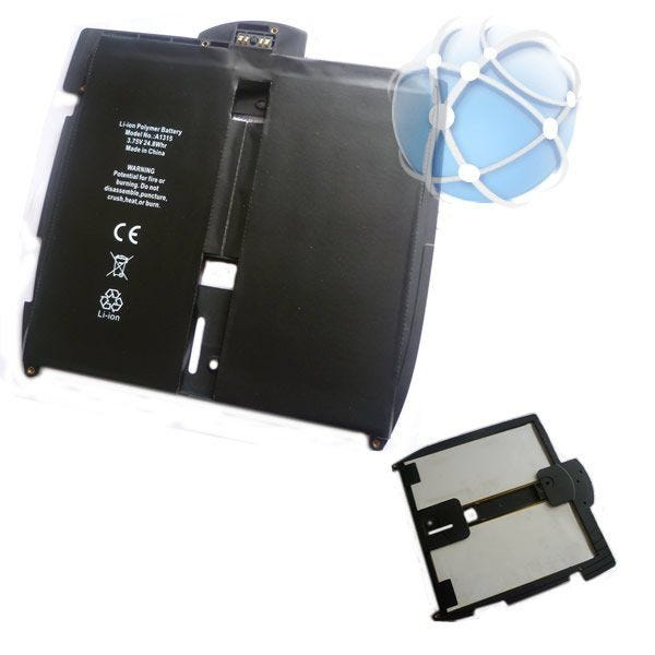 Apple iPad replacement battery with enclosure / bracket