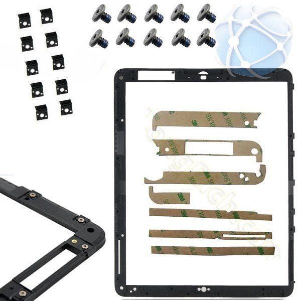 Apple iPad replacement middle frame assembly - pre-assembled with fasteners, screws and adhesive