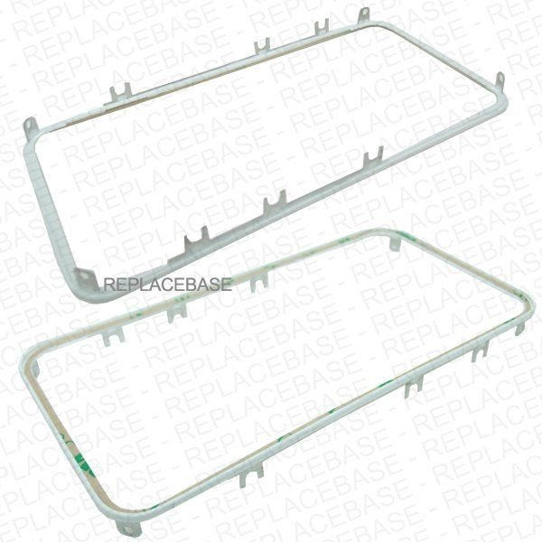 Quickly and easily replace the plastic bezel surrounding your iPhone 4 LCD assembly, includes the metal fitting lugs and adhesive to bond the frame in place.