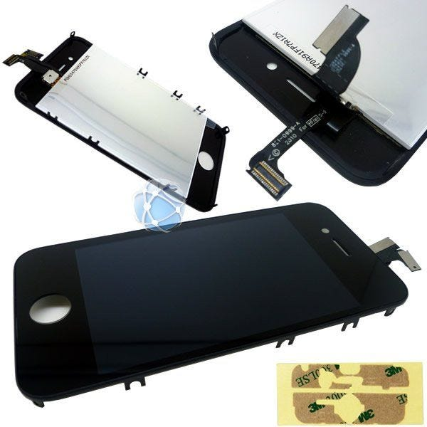 iPhone 4 Replacement Front Touch Screen & LCD Bezel With Adhesive