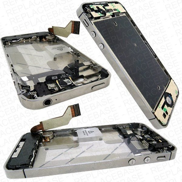 Apple iPhone 4s Replacement Full Chassis Assembly With Internal Components