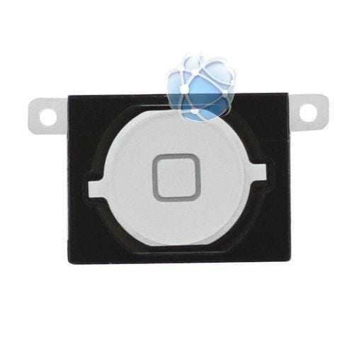iPhone 4s Replacement Plastic Home Button with rubber and metal spacer