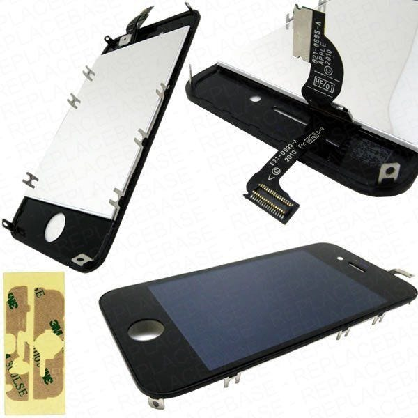 iPhone 4s Front Touch Screen And LCD Bezel With Adhesive