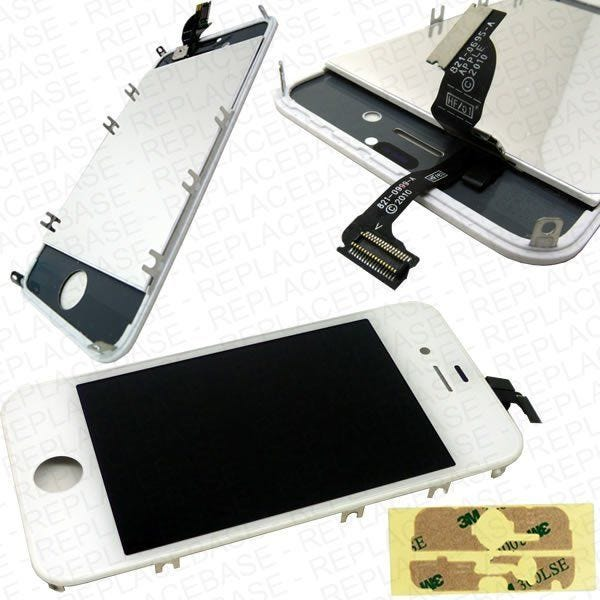 iPhone 4s Replacement Front Touch Screen And LCD Bezel With Adhesive