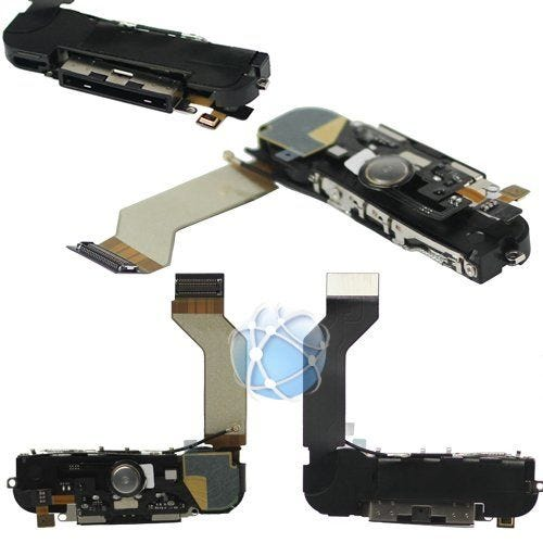 iPhone 4s Replacement Dock Cable Assembly Including The Loud Speaker, Home Button, Dock Cable / Port, Wi-Fi Antenna And Microphone - APN: 821-1301