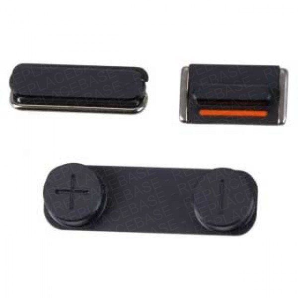 iPhone 5 replacement power button, volume buttons and mute switch - black