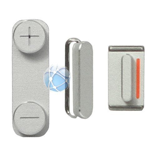 iPhone 5 replacement power button, volume buttons and mute switch - Silver