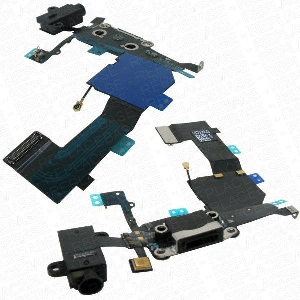 iPhone 5c replacement dock assembly with headphone jack and microphone P/N: 821-1705