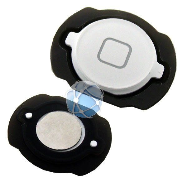 Apple iPod Touch home button : 4th generation replacement plastic external home button with rubber dust cover surround