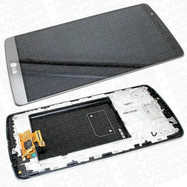 Original LG G3 Replacement LCD assembly, complete with LCD, Touch screen, soft buttons and chassis / bezel / frame
