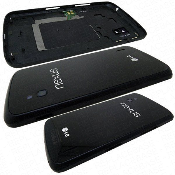 Original rear assembly for the Nexus 4, includes speaker mesh, camera lens and screw mounts