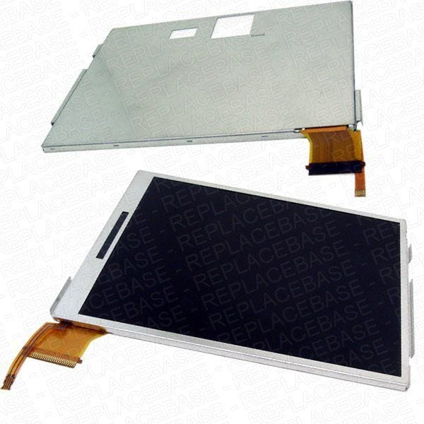 Original Nintendo 3DS XL replacement bottom LCD screen, no soldering required - includes back-light.