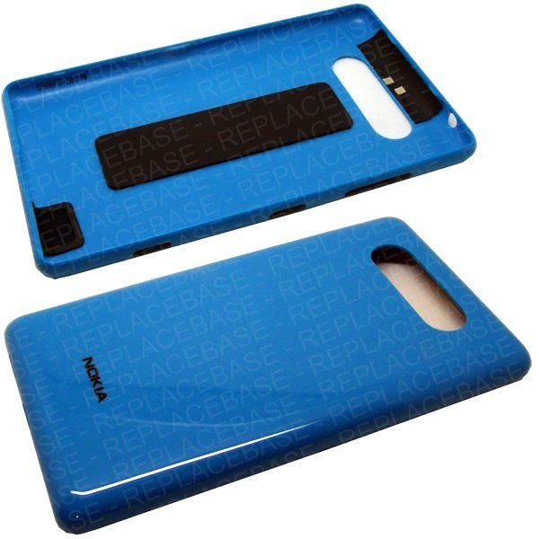 Original Nokia Lumia 820 battery cover / rear housing complete with volume, camera power buttons, antenna and rubber padding