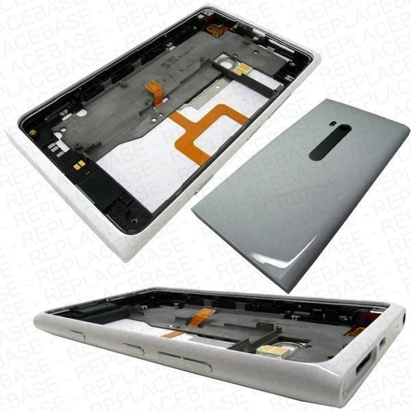 Nokia Lumia 900 complete rear housing with headphone jack, loud speaker, flash and buttons