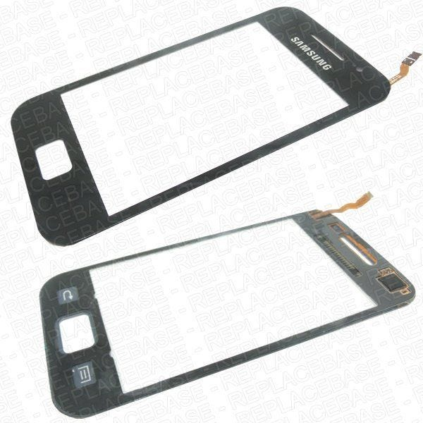 Original Samsung Galaxy Ace S5830 replacement touch screen with bonding adhesive pre-applied.
