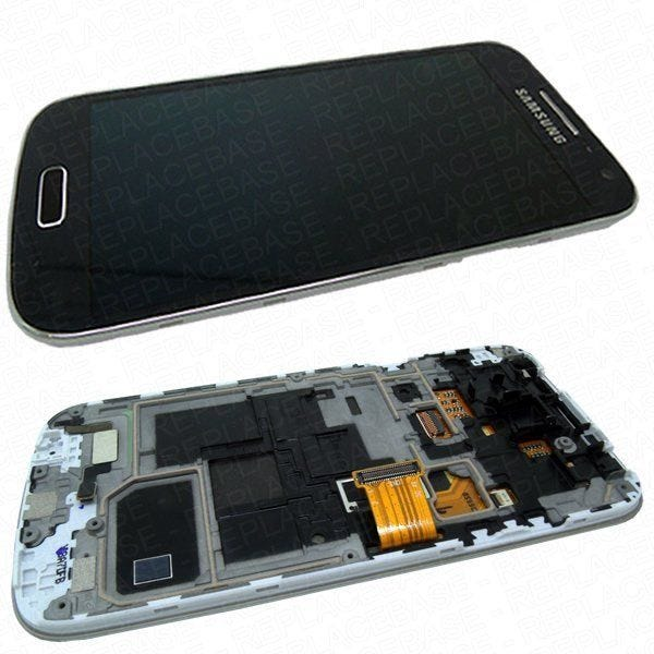 Complete LCD assembly for the Galaxy S4 Mini, LCD / digitizer assembly is already fitted to the chassis with the home button and navigation buttons already fitted - all parts are original Samsung and factory new