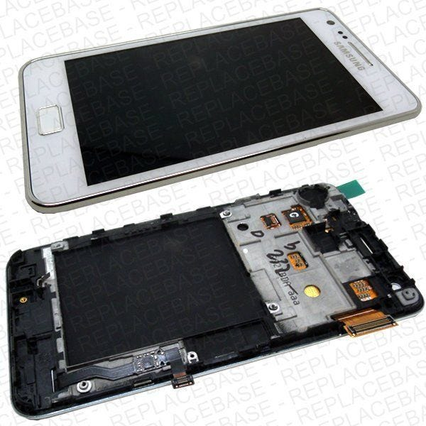 Samsung Galaxy i9100 complete front assembly with cables and speaker