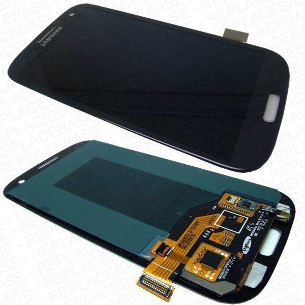 Samsung Galaxy S3 front assembly - Pebble Blue - With Navigation buttons