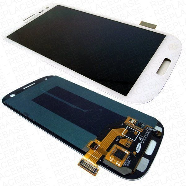 Samsung Galaxy S3 front assembly - White - With Navigation buttons