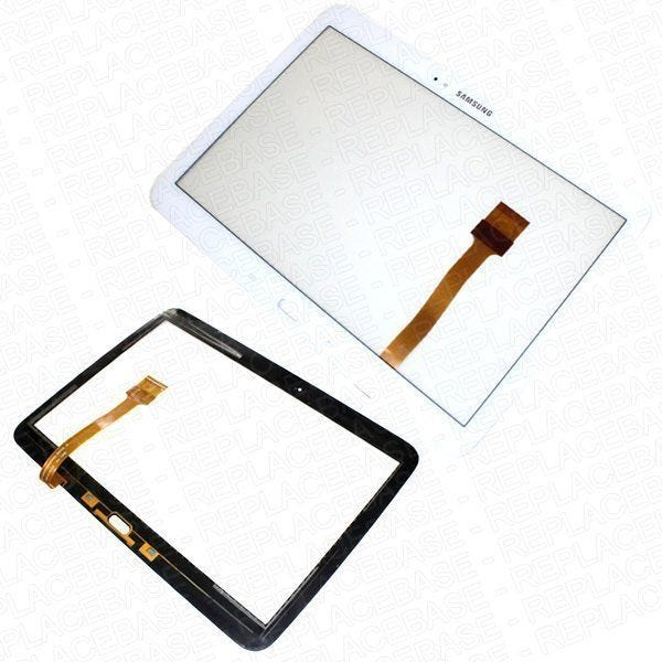 Original Samsung Galaxy Tab 3 10.1 P5200 Touch screen / gorilla Glass panel with bonding adhesive and dust / foam seal- White