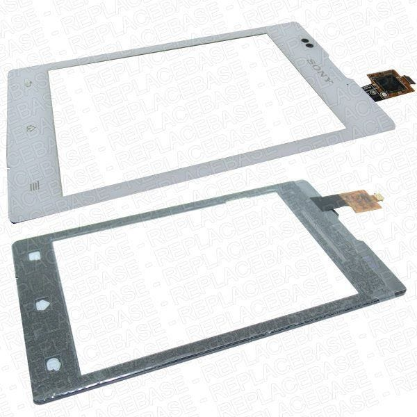 Original Sony Xperia E replacement touch screen / digitizer / glass panel with bonding adhesive pre-applied