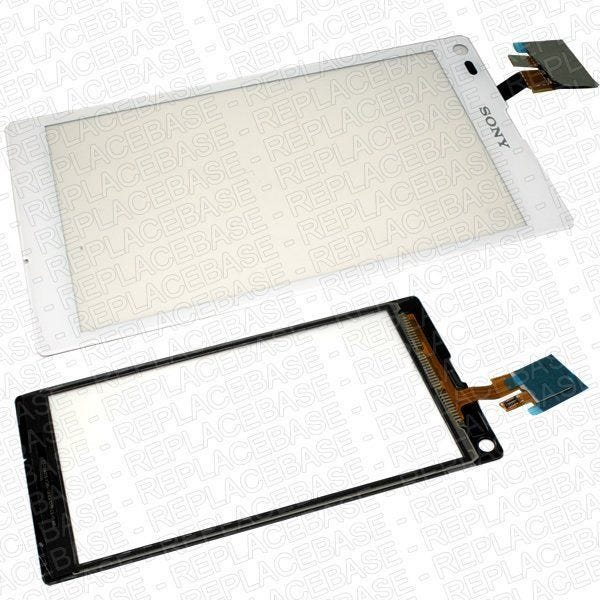 Original Sony Xperia L replacement touch screen / digitizer / glass panel with bonding adhesive pre-applied
