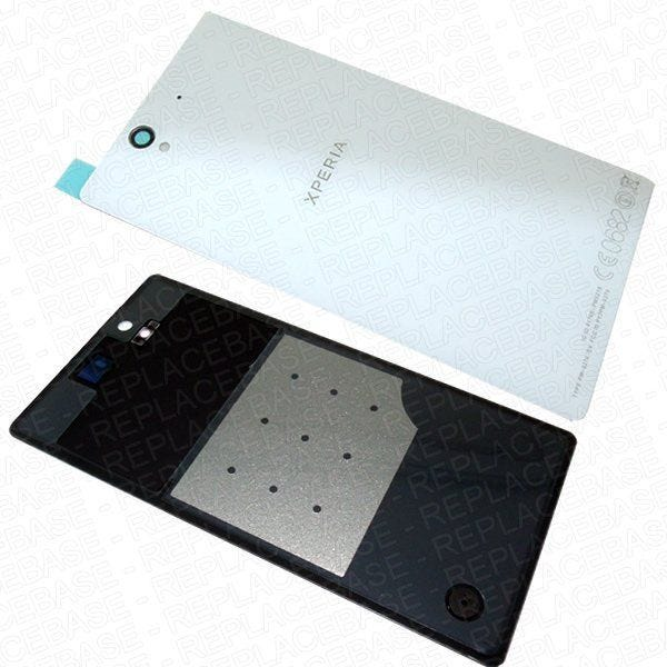 Original Sony Xperia Z replacement rear panel, includes water / dust resistive adhesive seal and camera lens .