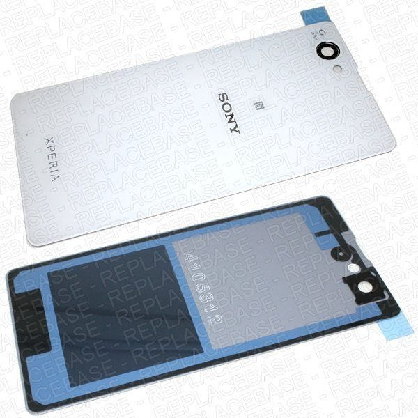 Original Sony Xperia Z1 Compact replacement rear panel, includes water / dust resistive adhesive seal and camera lens .