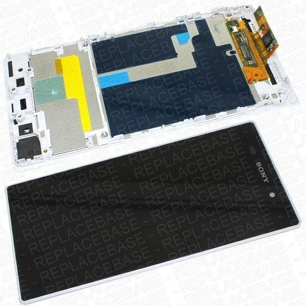 Original Xperia Z1 LCD assembly, complete with frame / bezel