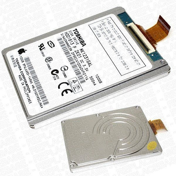 New replacement HDD for the iPod Classic